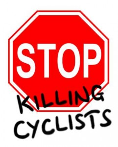Stop-sign-with-killing-cyclists-spray-painted-on-top